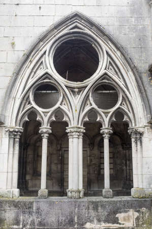 gothic window: Toul (Meurthe-et-Moselle, Lorraine, France) - Cloister of the ancient cathedral, in gothic style