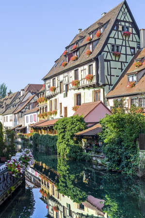 Colmar (Haut-Rhin, Alsace, France) - Exterior of old half-timbered houses in the Petite Venise photo