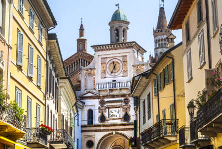 crema: Crema (Cremona, Lombardy, Italy): historic buildings with the cathedral