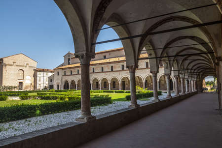 San Benedetto Po (Mantua, Lombardy, Italy) - Cloister of the ancient abbey