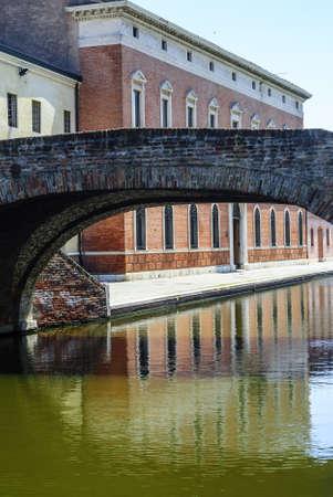 Comacchio (Ferrara, Emilia Romagna, Italy) - Bridge over a canal Stock Photo - 17288717