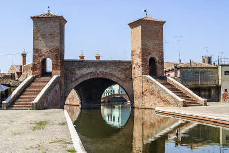 Comacchio (Ferrara, Emilia Romagna, Italy) - Famous bridge called Trepponti Stock Photo - 17269307
