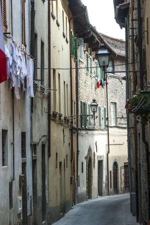 Sansepolcro (Arezzo, Tuscany, Italy) - Old typical street Stock Photo - 17328087