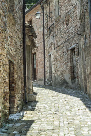 urbino: Piobbico (Pesaro Urbino, Marches, Italy) - The medieval town Stock Photo
