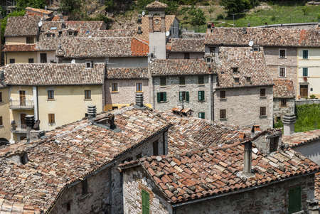 Piobbico (Pesaro Urbino, Marches, Italy) - Panorama of the old town photo