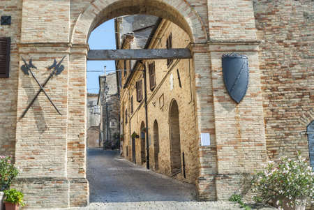 Treia (Macerata, Marches, Italy) - Entrance of the medieval town Stock Photo - 17677264