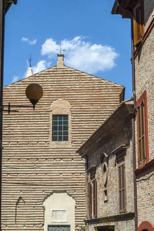 potenza: Potenza Picena (Macerata, Marches, Italy) - Ancient church and other buildings Stock Photo
