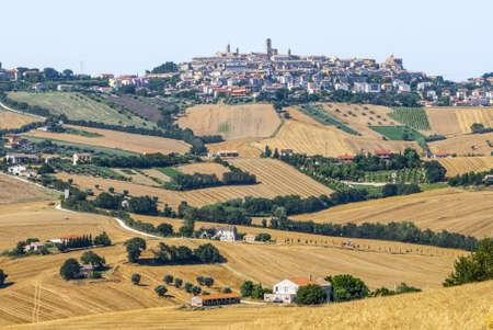 potenza: Potenza Picena (Macerata, Marches, Italy) - Panoramic view at summer