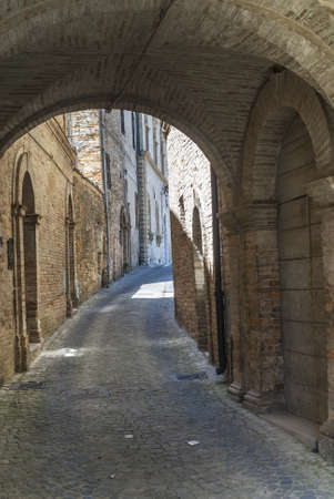 Monterubbiano (Ascoli Piceno, Marches, Italy) - Old typical street with arch photo