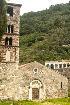 Antrodoco (Rieti, Lazio, Italy) - Santa Maria extra-moenia, medieval church in Romanesque style Stock Photo - 18413231