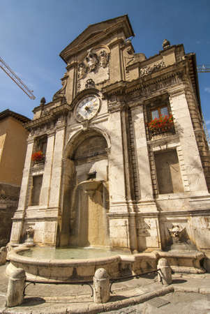monumental: Ancient monumental fountain in Spoleto (Perugia, Umbria, Italy)