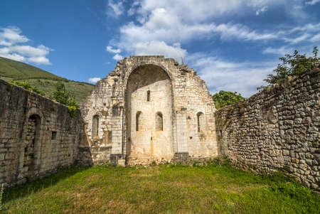 Ruined church at Campitello sul Clitunno, near Foligno (Perugia, Umbria, Italy) photo