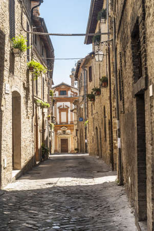 Bevagna (Perugia, Umbria, Italy) - Old street and church