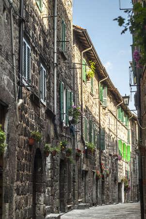Abbadia San Salvatore (Siena, Tuscany, Italy) - Medieval street photo
