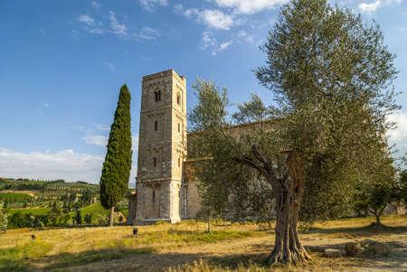 sant'antimo: Landscape of SantAntimo (Siena, Tuscany, Italy) at summer