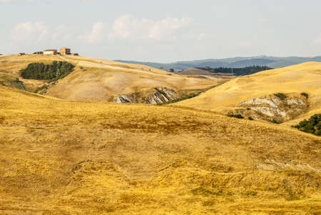 Crete senesi, characteristic landscape in Val d'Orcia (Siena, Tuscany, Italy) Stock Photo - 19108720