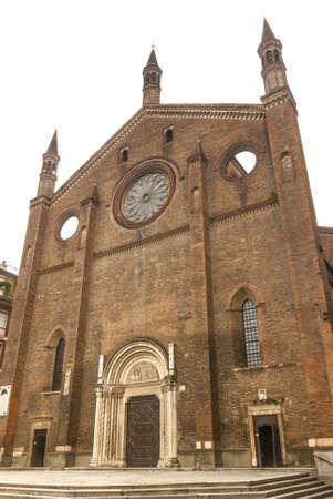 piacenza: Piacenza (Emilia-Romagna, Italy) - Ancient church of San Francesco Stock Photo