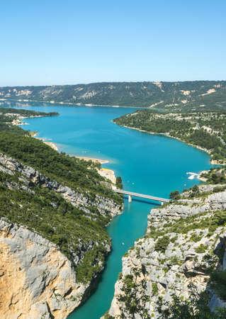 gorges: Gorges du Verdon (Alpes-de-Haute-Provence, Provence-Alpes-Cote dAzur, France(, famous canyon Stock Photo