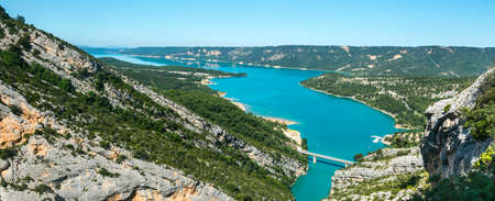 gorges: Gorges du Verdon (Alpes-de-Haute-Provence, Provence-Alpes-Cote dAzur, France(, famous canyon Stock Photo