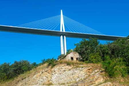 millau: The modern highway near Millau (Aveyron, Midi-Pyrenees, France), the highest bridge in Europe
