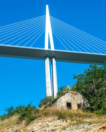 millau: The modern highway near Millau (Aveyron, Midi-Pyrenees, France), the highest bridge in Europe