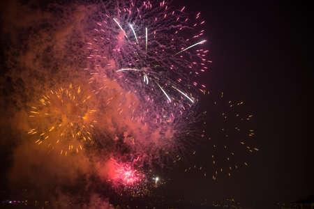 toulon: Toulon (Var, Provence-Alpes-Cote dAzur, France): traditional fireworks at july 14th