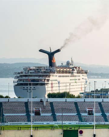 toulon: Toulon (Var, Provence-Alpes-Cote dAzur, France): the stadium e the harbor