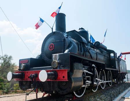 Old locomotive (steam engine) in Var (Provence-Alpes-Cote dAzur, France)