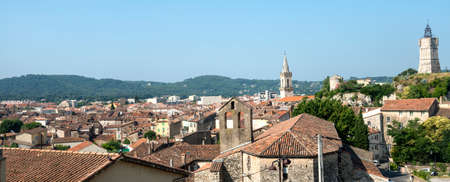 var: Draguignan (Var, Provence-Alpes-Cote dAzur, France): panoramic view