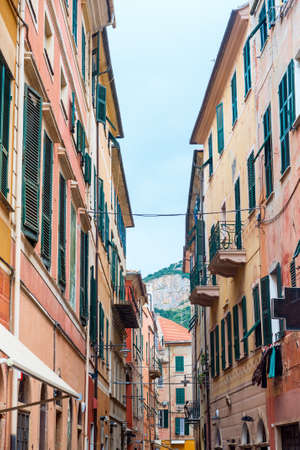 finale: Finale Ligure (Savona, Liguria, Italy), old typical street with colorful houses