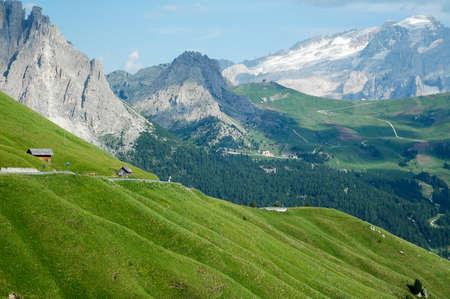 sella: Passo Sella (Dolomites, Belluno, Veneto, Italy), mountain landscape at summer