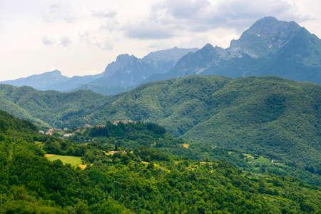 massa: Foce Carpinelli, mountaIn landscape between Lunigiana and Garfagnana (Tuscany, Italy) at summer
