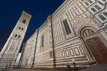 firenze: Florence (Firenze, Tuscany, Italy): the medieval cathedral at evening