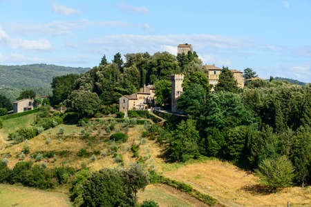 Panzano (Florence, Tuscany, Italy), historic village in Chianti, at summer