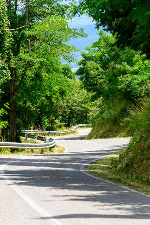 Monticello Amiata (Grosseto, Tuscany, Italy), winding road photo