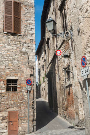 terni: Panoramic view of Narni (Terni, Umbria, Italy), medieval city: a typical old street