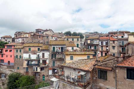 fabrica: Fabrica di Roma (Viterbo, Lazio, Italy): the medieval town Stock Photo