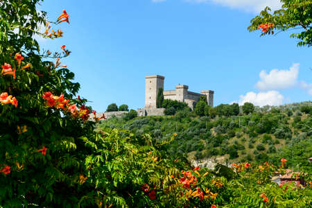 terni day: Panoramic view of Narni (Terni, Umbria, Italy), medieval city. The castle