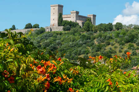 terni day: Panoramic view of Narni (Terni, Umbria, Italy), medieval city.  Editorial