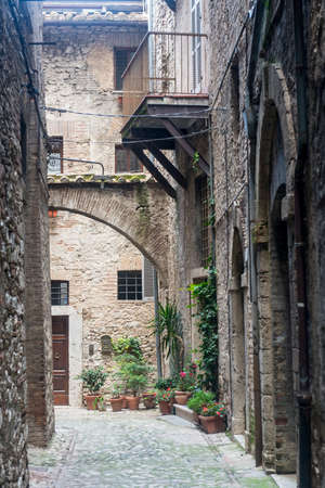 terni: Narni (Terni, Umbria, Italy), medieval city: a typical old street