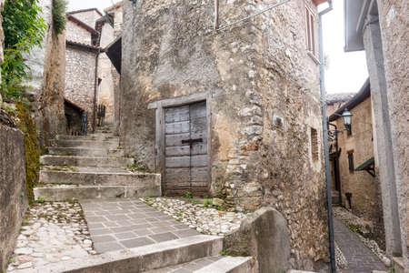 rieti: Morro Reatino (Rieti, Lazio, Italy), historic village: typical old street Editorial
