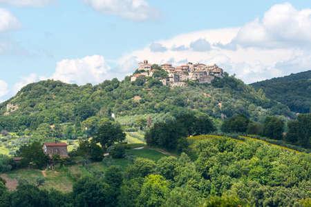 terni: Panoramic view of Narni (Terni, Umbria, Italy), medieval city