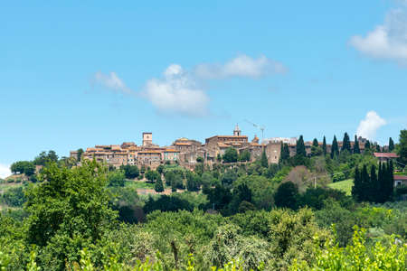 terni day: View of Otricoli (Terni, Umbria, Italy), historic town, at summer Stock Photo