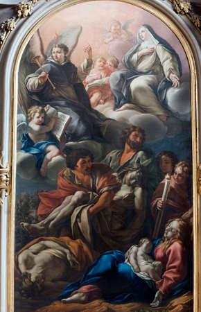 rieti: RIeti (Lazio, Italy), interior of the medieval duomo. Painting