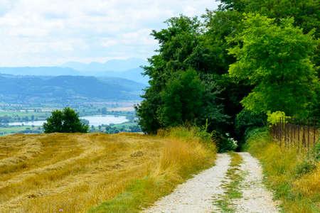 rieti: Country landscape near Rieti (Lazio, Italy) at summer
