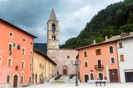rieti: The main square of Leonessa (Rieti, Lazio, Italy)