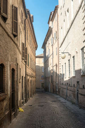 macerated: Macerata (Marches, Italy): historic buildings at morning