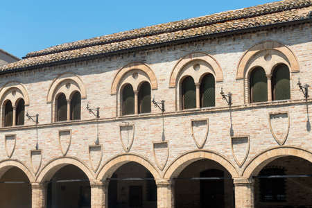 macerated: Montelupone (Macerata, Marches, Italy), medieval village at summer Stock Photo