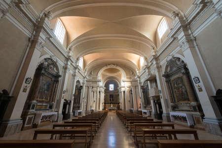 recanati: Recanati (Macerata, Marches, Italy): historic church of San Domenico, interior