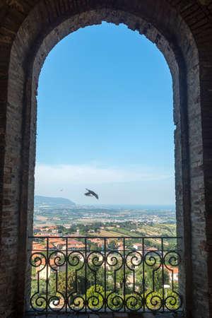 recanati: Recanati (Macerata, Marches, Italy): view from a terrace